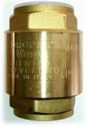 """STOUT 11/2"""" Клапан обратный пружинный муфтовый с пластиковым седлом (Италия)"""
